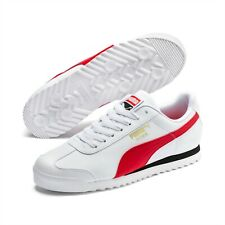 PUMA Roma Basic High Risk White Red 36957111 Mens Shoes Sneakers Sizes 7.5-12