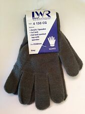 BNWT Boys or Girls LWR Brand Soft Grey Knit Primary School Uniform Warm Gloves