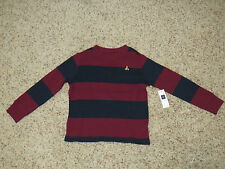 Baby Gap Boys Maroon & Navy Long Sleeve Shirt - Size 5 - NWT