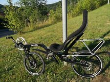"Recumbent Bicycle Bike Ligfiets Flevobike Flevo-Bike 20 "" Disc Brake Black"
