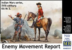 Enemy Movement Report. Indian Wars Series, XVIII century  1/35 MasterBox 35217