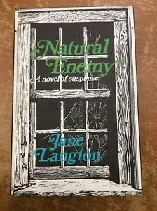 Jane Langton Mystery Signed First Edition With Drawing Natural Enemy