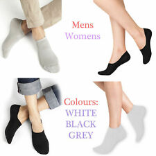 Women Men TRAINER INVISIBLE SOCKS White Black Cotton No Show Sports Ankle Liner