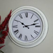 Orologi da parete bianca a batteria di vetro