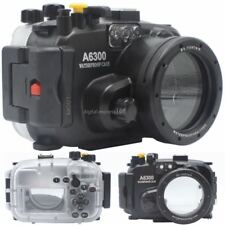 40M 130ft Underwater Diving Waterproof Housing Case for Sony A6300 16-50mm Lens