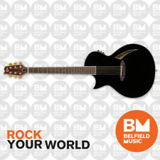 ESP LTD TL-6 Thinline Series Acoustic Electric Guitar Black Left-Handed