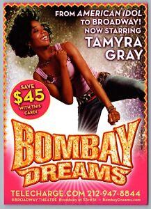 Postcard Theatre 2004 Bombay Dreams Musical Tamyra Gray Broadway Theatre NYC
