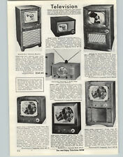 "1950 Paper Ad DeWald Automatic Direct View 7"" Tv Television Receiver 16"" Console"