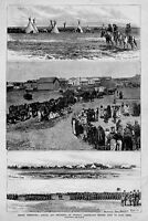 INDIAN TERRITORY CAVALRY OFFICERS ENLISTING INDIAN SCOUTS SHERIDAN FORT RENO