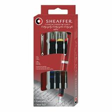 Sheaffer Classic Callgraphy Mini Kit 3 Nibs & 4 Cartridges New In Box Red