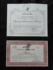 (2) Original Winchester Certificate Award 50 Straight Skeet Distinguish Shooting