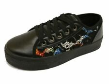 Zapatillas de lona de mujer sin marca color principal negro