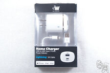 Just Wireless - Home PD USB Charger + Type C Port + Lightning 5ft Cable (White)
