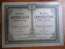 Richters Bauvorlagen 1898 No.28 Dr.Richters Kunst - An. Rudolstadt (Thüringen)