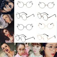 Vintage Style Clear Lens Round Glasses Gold Metal Frame Unisex Eyeglasses