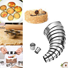 14PCS Round Circle Stainless Steel Cookie Cutter Set Pastry Cookies Biscuit Mold