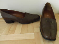 UNMARKED Van Dal Kinloch Ladies Brown Leather Slip on Shoes Wide 4 UK 37 EU MINT