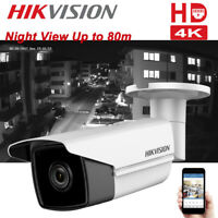 8MP Hikvision DS-2CD2T85FWD-I8 4K PoE EXIR 80m Outdoor Security Bullet Cameras