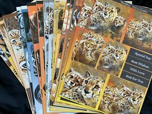 Pollyanna Pickering20x WILD AT HEART DIE CUT TOPPERS *CARD CRAFT ROOM CLEAROUT*