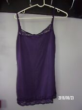 Maurices womens ladies large tank w/lace cami, violet NEW TAG