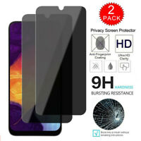 2-Pack Anti-Spy Tempered Glass Screen Protector For Samsung Galaxy A10e A20 A50