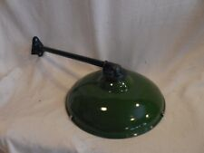 """Vintage Barn Light JACKSON antique yard sign gas station porcelain shade 14"""""""