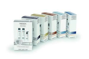 NIOXIN SYSTEM 1 TO 6, SHAMPOO, CONDITIONER, TREATMENT HAIR LOSS STARTER KIT