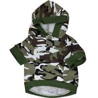 Pet Dog Clothing Hoodies Costume Camouflage Dog Clothes Camo Coats Sweatshirt