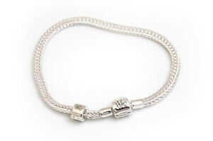 Hiho Silver Exclusive Sterling Silver Foxtail Charm Bead Bracelet with stop bead