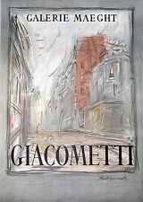 """Alberto Giacometti """"Rue d""""Alesia;"""" 1954 Galerie Maeght Lithograph Poster"""