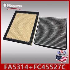 FA5314 FC45527C(CARBON) ENGINE & CABIN AIR FILTER ~ 2003-04 GMC SIERRA 1500-3500