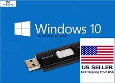 Windows 10 USB All Versions 32&64bit Restore Repair Install Upgrade w/HDD