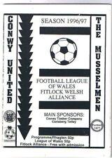 Conwy United v Rhyl 1996/7