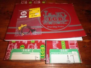 VTG. LGB Train Accessories Lot #5030 Hand Signal 5055 Street Lamp 3030 Lighting