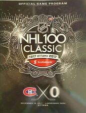 2017 NHL 100 CLASSIC OTTAWA SENATORS MONTREAL CANADIENS OFFICIAL PROGRAM SEALED