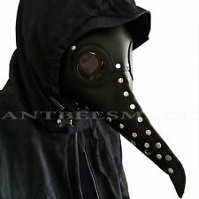 Halloween Black Doctor Plague Bird Long Nose Cosplay Costume Mask