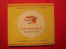 Sportsman Fly Fishing Cigarette pack  Card Parmachene Belle Red Border