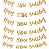 Gold Happy Birthday Bunting Banner 18th 21st 30th 40th 50th 60th Party Decor 2M