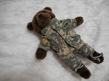 U.S. Army Bear Stuffed Animal Plush IRA Green Camo small Teddy Bear dark brown