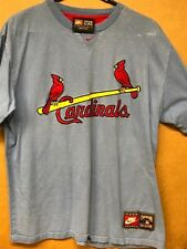 Mens Nike St Louis Cardinals Baby Blue Cooperstown T-Shirt Size Medium