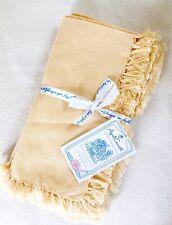 April Cornell Fabric Napkins Honey Yellow Cream Set of 4 (3 sets available=12)