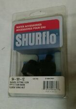 NEW IN PACKAGE SHURFLO ELBOW WING NUT SWIVEL FITTING 1/2IN BARB