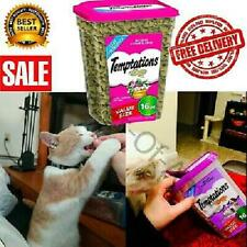 Cat Treats Temptations 16 Oz. Catnip Flavors Kitty Crunchy Food Delicious Snacks
