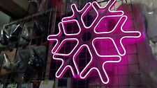 garland snowflake neon advertising decor beauty new 2021 new year