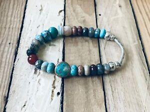 NEW & Inspired by Sundance catalog: jasper, turquoise & sunstone bracelet