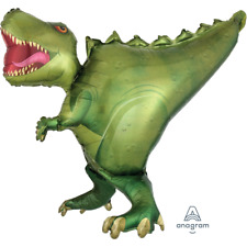 Terrific T-Rex Dinosaur Ultrashape Jumbo Foil Balloon - Uninflated