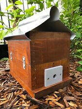 Stingless Native Bee Hive With Roof | Stained | OATH Hive
