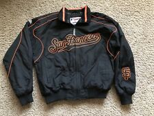 San Francisco Giants Jacket by Majestic Womens Size L Nylon Fleece Lined