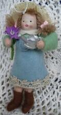 Heartfelts Collection Flower Gardening Girl Doll Felt Ornament Midwest Cannon
