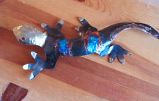 Dripped Copper Vibrant Color Large Gecko Lizard Wall Hanging
